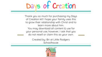 Days of Creation Bible Kit