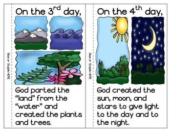 Days of Creation Booklets in Color and Black & White