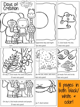 Days of Creation Colorful Class Book & Coloring Book