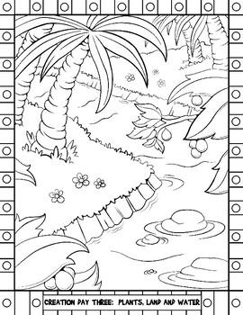 Days of Creation Coloring PDF