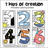 Days of Creation Coloring Sheets for Early Childhood Bible Unit on Creation