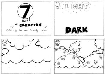 7 Days Of Creation Coloring Worksheets Teaching Resources Tpt