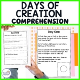 Days of Creation Reading Comprehension Passages and Questions
