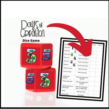 Days of Creation Dice Game