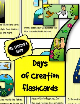 Days of Creation Flash cards