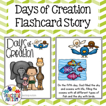 Days of Creation Flashcard Story