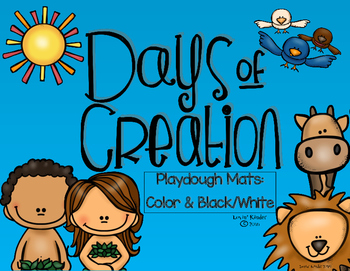 Days of Creation Playdough/Writing Mats
