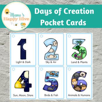 Days of Creation Pocket Cards