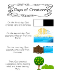 Days of Creation Printable