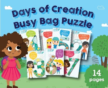 Days of Creation Puzzle Busy Bag, Preschool, Kindergarten homeschool, God Create