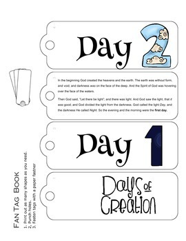 Days Of Creation Six Days Of Creation Activities Nkjv And Niv