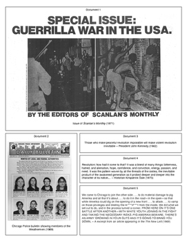 Days of Rage: Radicalism in the 1960s (Document Packet)