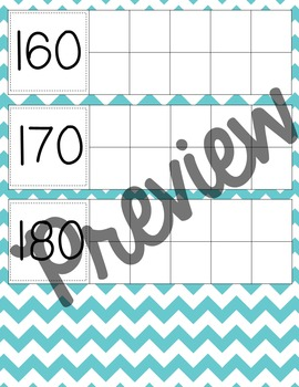 Days in School- Calendar Ten Frames (Aqua Chevron)