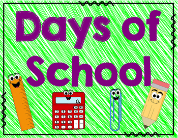 Days of School Counting with 10's Frames