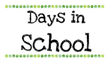 Days of School Ten Frame Posters
