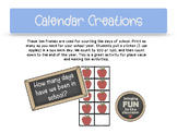 Days of School Ten Frames - FREE for your Calendar or Morning Meeting!