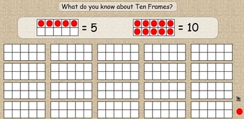 Days of School - Ten Frames for Activboard/Promethean Board