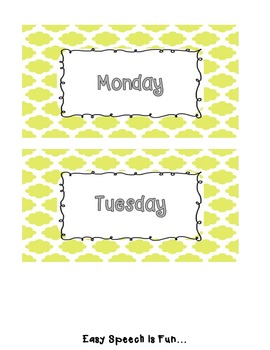 Days of The Week Free Labels or Printable Tags