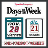 Days of Week in Spanish (Notes, PowerPoint, Worksheets)