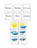 Days of Week Months of Year Weather Cut Paste Match Kindergarten Autumn Summer