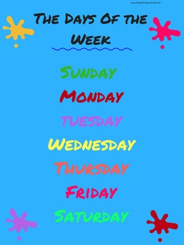 Days of Week Poster