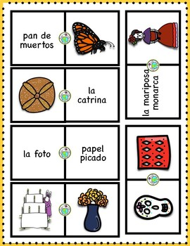 Days of the Dead Dominoes Spanish Printable Game