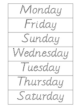 FREEBIE! Days of the Week