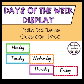 Days of the Week - Bright Polka Dot Theme