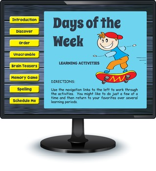 Smartboard Days of the Week Games