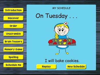 Smartboard Days of the Week Games by Drag Drop Learning