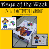Days of the Week 3 in 1 Activity Bundle: Sequencing, Weavi