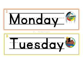 Days of the Week Aboriginal theme