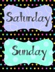 "Days of the Week 4""x5.5"" Mini-Signs"