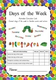 Days of the Week Activity Booklet - Australian Curriculum Aligned to Foundation