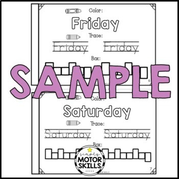 Days of the Week - Activity Worksheets
