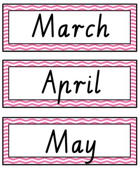 VIC Modern Cursive Days and Months Flashcards