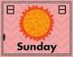 Days of the Week BILINGUAL English/Japanese