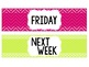 Days of the Week Bin Labels (Colorful)