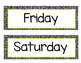 Days of the Week Black and White with Yellow Accent