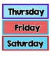 Days of the Week - Blue and Red patterns