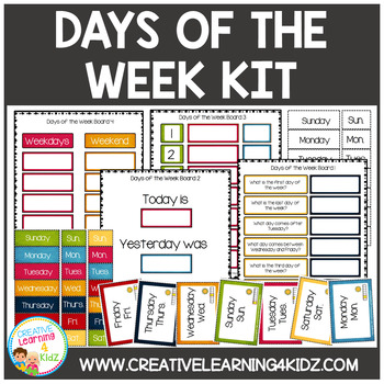 Days of the Week Boards & Flashcards Autism