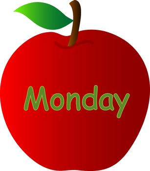 ~DOWNLOADABLE~Days of the Week Bulletin Board -- Apple Theme