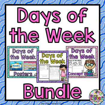 Days of the Week Bundle: Worksheets, Posters, Concept Book