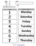 Days of the Week | CUT-N-PASTE