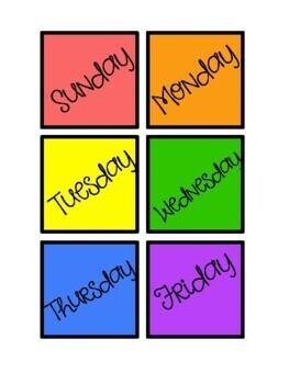 Days of the Week - Calendar