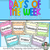 Days of the Week Calendar Cards