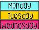 Days of the Week Calendar Cards