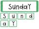 Days of the Week Calendar Center Game