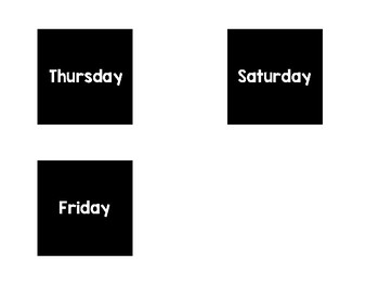 Days of the Week Calendar Headers - Black + Brights