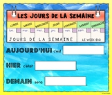 Days of the Week Calendar Poster w/ Speaking Prompts (French)